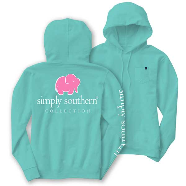Simply Southern T-Shirt Hoodie Turquoise