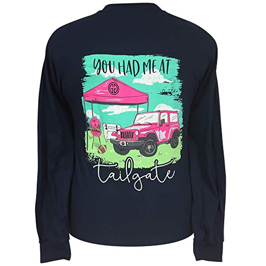 Girlie Girl Originals Long Sleeve Shirts Football Tailgate