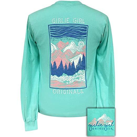 Girlie Girl Originals Long Sleeve Shirts Mountains