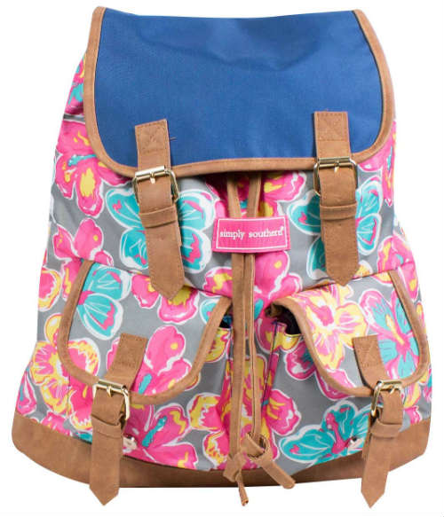 Simply Southern Book Bag Floral