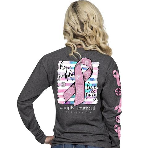 Simply Southern Breast Cancer Shirts - Hope Simply Live Fully