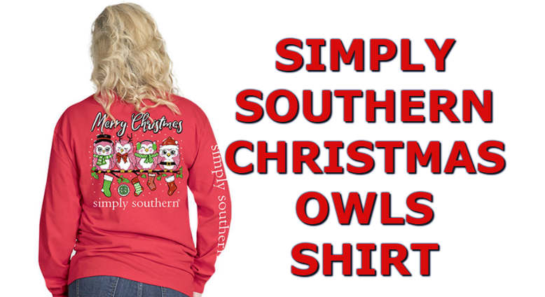 7e3586499155 Cute Christmas 2018 Simply Southern Owls Shirt In Long Sleeve Color Red