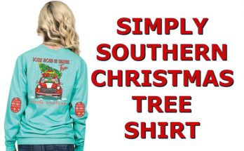 Cute Elves Simply Southern Christmas Tree Shirt