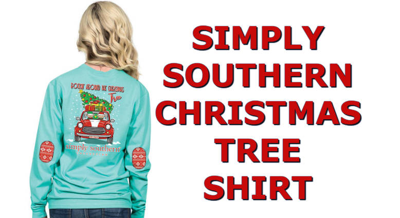 1698ae682 Cute Elves Simply Southern Christmas Tree Shirt Long Sleeve Rockin Car T- Shirt