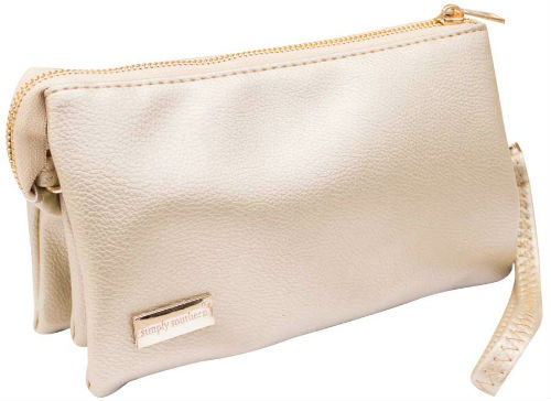 Simply Southern Clutch Purse Gold