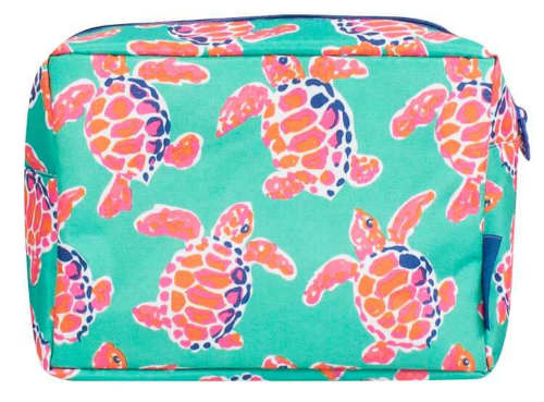 Simply Southern Collection Cosmetic Bag in Turtle Print