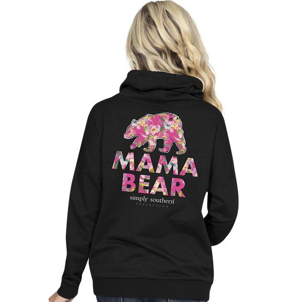 Simply Southern Cowl Neck Pullover - Mama Bear
