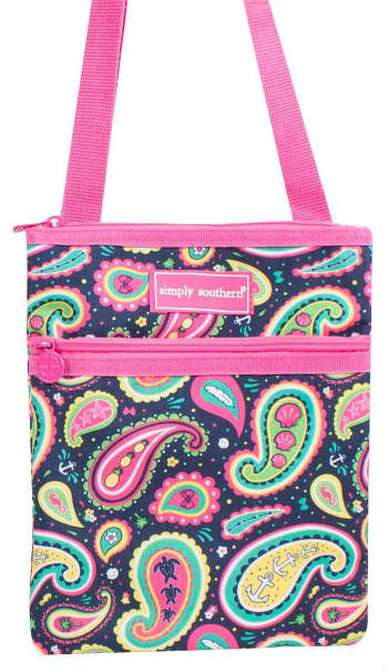 Simply Southern Collection Crossbody Bag in Paisley Print
