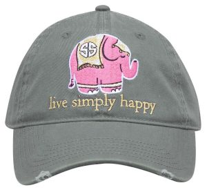 Simply Southern Hats Elephant Cap Grey