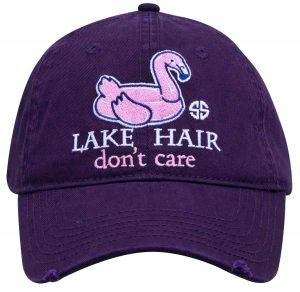 Simply Southern Hats Lake Hair Don't Care Cap Purple
