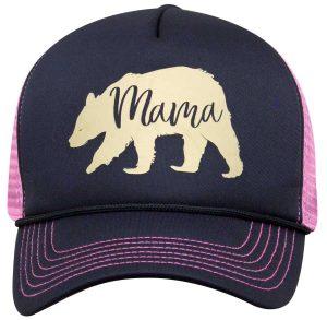 Simply Southern Hats Mama Bear Cap Navy Pink