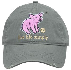 Simply Southern Hats Pig Cap Grey