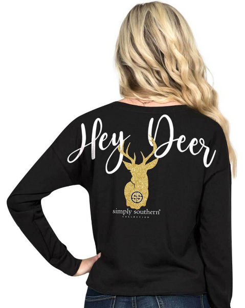 Hey Deer Simply Southern Long Sleeve T-Shirt