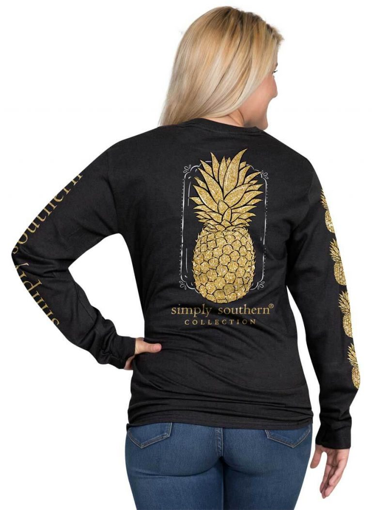 Simply Southern Pineapple Black T-Shirt