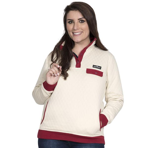 Simply Southern Quilted Pullover Color Cream