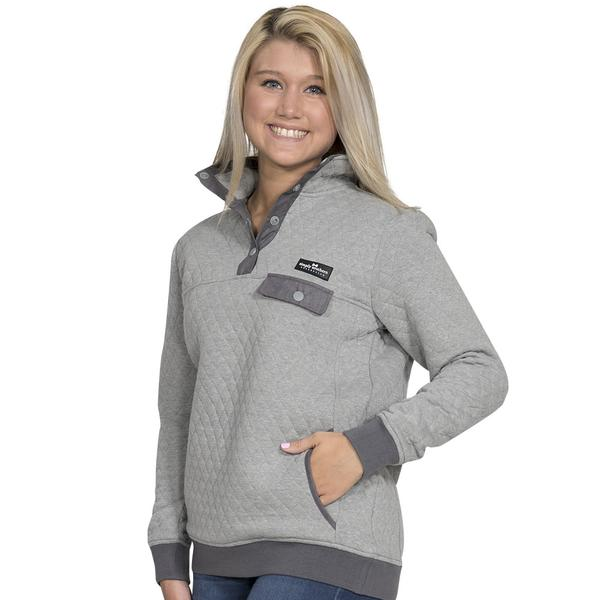Simply Southern Quilted Pullover Color Gray