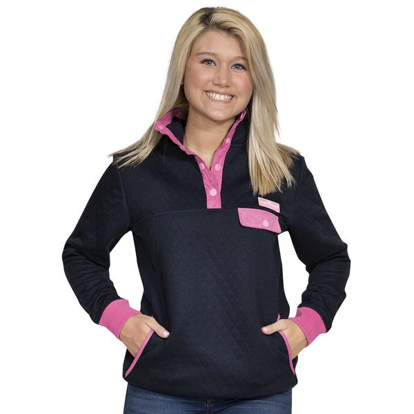 Simply Southern Quilted Pullover Color Navy
