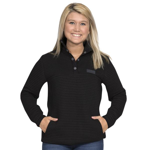 Simply Southern Ribbed Pullover Color Black