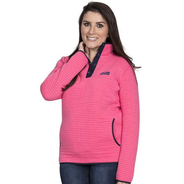 Simply Southern Ribbed Pullover Color Pink