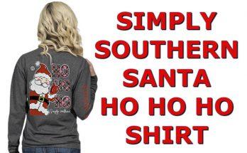 Simply Southern Ho Ho Ho Shirt Christmas Santa