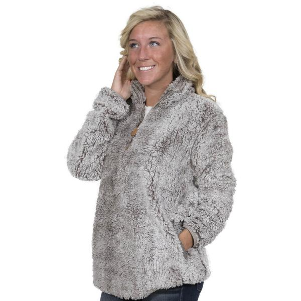 Simply Southern Sherpa Pullover Color Pearl Gray