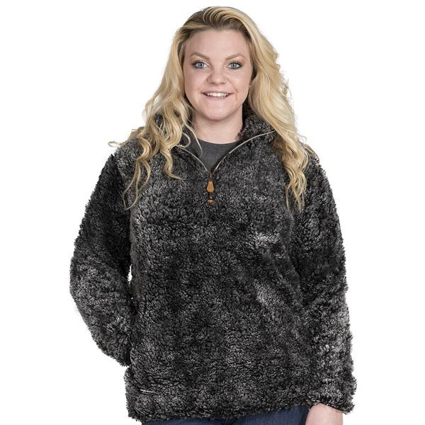 Simply Southern Sherpa Pullover Color Steel