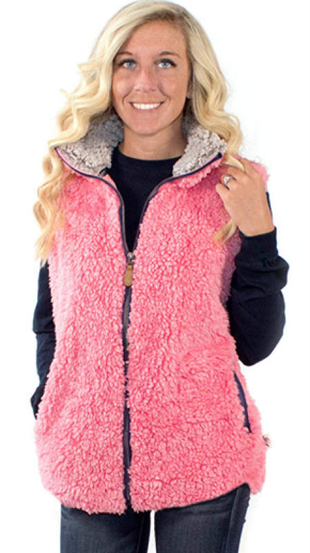 Simply Southern Sherpa Vest Color Pink