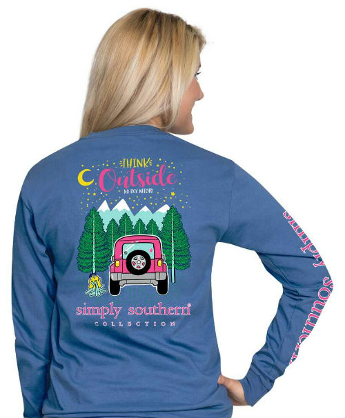 Simply Southern Shirt Camping Blue