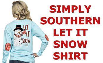 Simply Southern Snowman Shirt Let It Snow