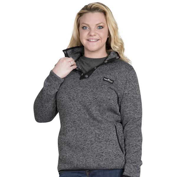 Simply Southern Sweater Fleece Pullover Color Steel