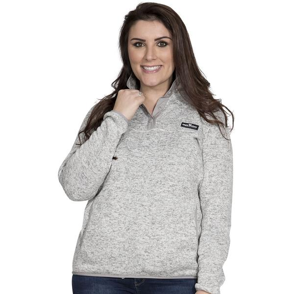 Simply Southern Sweater Fleece Pullover Color Smoke Gray