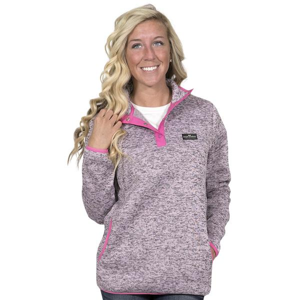 Simply Southern Sweater Fleece Pullover Color Pink Heather