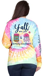 Simply Southern Peanut Butter & Jelly Tie Dye Shirt