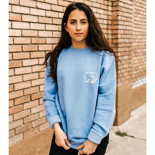Ivory Ella Light Blue Crew Neck Sweatshirt