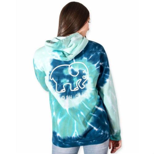 Ivory Ella Hoodies - Oversized Blue Green Swirl Hoodie