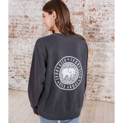 Ivory Ella Pepper Crew Neck Sweatshirt