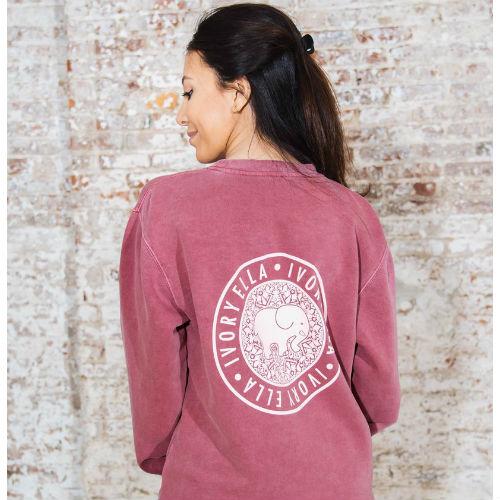 Ivory Ella Vintage Rose Crew Neck Sweatshirt