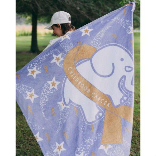 Ivory Ella Childhood Cancer Awareness Blanket