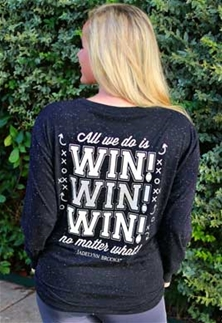 Jadelynn Brooke Long Sleeve Women T-Shirt All We Do Is Win