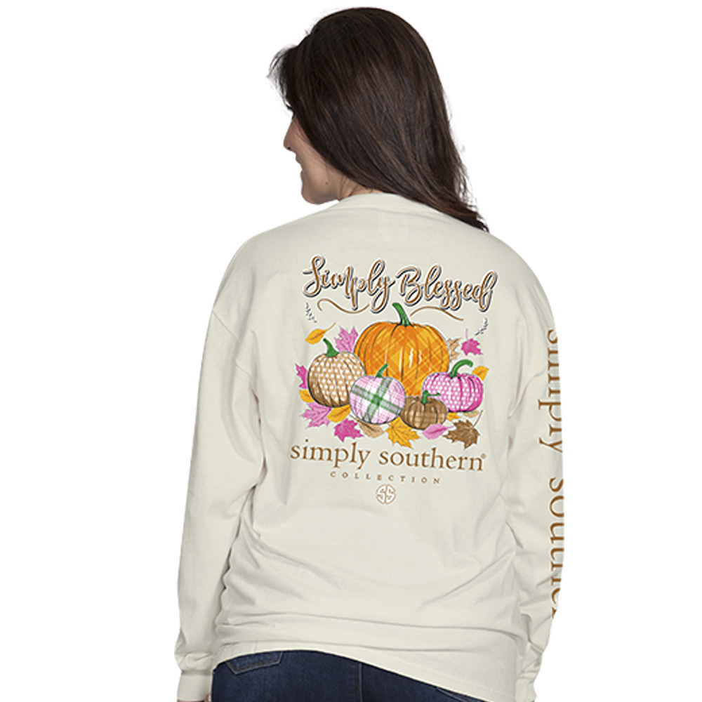 Simply Southern Shirt Blessed Pumpkin T-Shirt