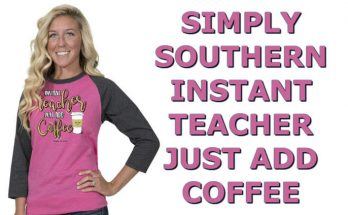 Simply Southern Faithful Baseball Raglan Shirt - Instant Teacher Just Add Coffee