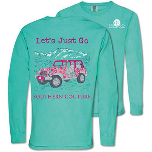 Southern Couture Jeep Shirt - Let's Just Go