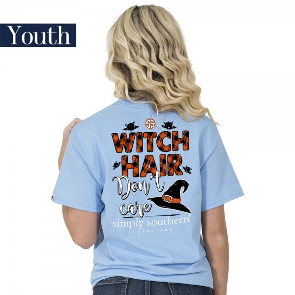 Youth Simply Southern Shirt Witch Hair Don't Care
