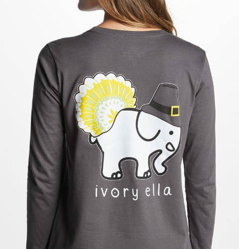9363281c4 Ivory Ella 2018 Ella Fit Thanksgiving Long Sleeve T-Shirt
