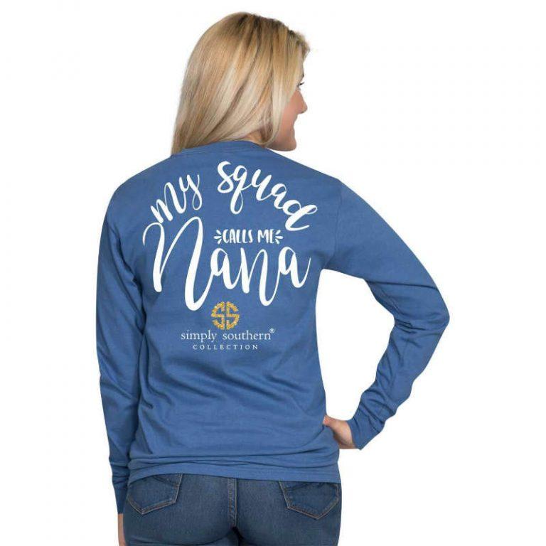 Simply Southern T-Shirt My Squad Calls Me Nana