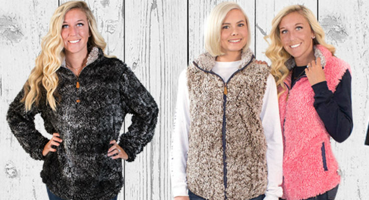 Sherpa Vest & Pullovers From Simply Southern