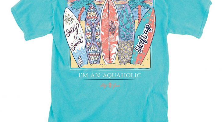 Lily Grace Surfboards T-Shirt - Cute Beach Summer Surfboards Shirt