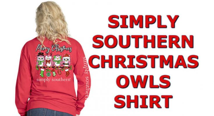 Cute Christmas 2018 Simply Southern Owls Shirt In Long Sleeve Color Red