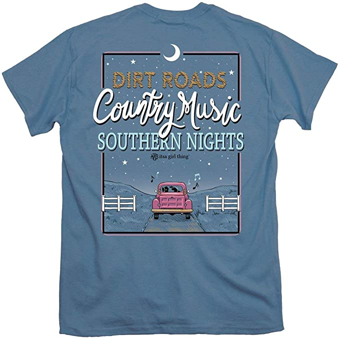 Itsa Girl Thing T-Shirt - Dirt Roads Country Music Southern Nights - Truck