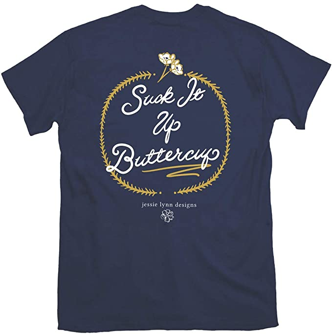 Itsa Girl Thing T-Shirt - Suck It Up Buttercup - Navy